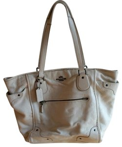 Coach Mickie Antique F34039 Tote in White