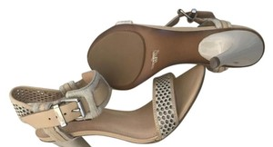 7 For All Mankind Beige and calf hair Sandals