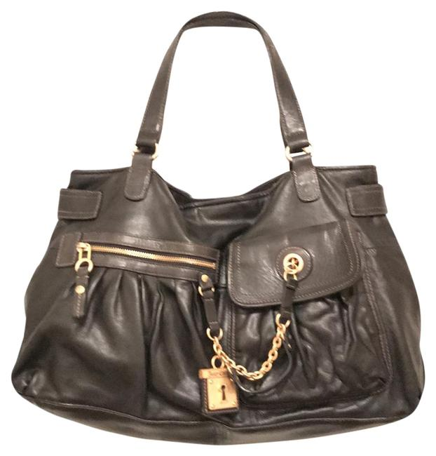 Item - Black Gold Leather Tote