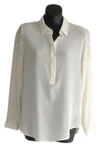 Club Monaco Button Down Shirt white