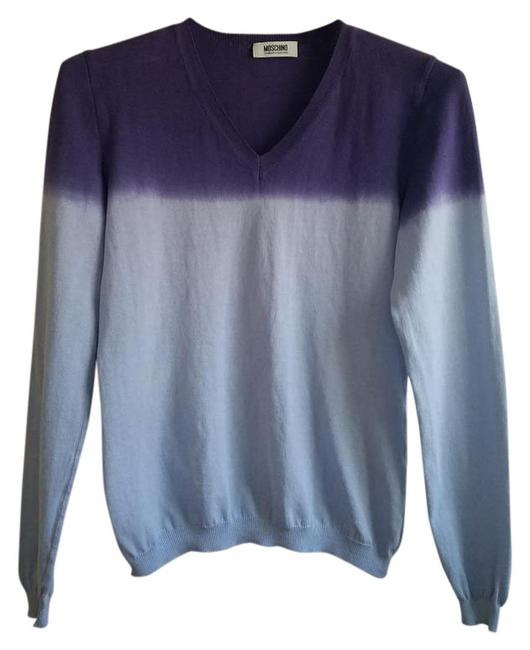 Preload https://img-static.tradesy.com/item/21144954/moschino-purple-and-lavender-cheap-and-chic-v-neck-sweaterpullover-size-4-s-0-3-650-650.jpg
