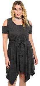 Love Cameron LA short dress Charcoal Cold Plus Size on Tradesy