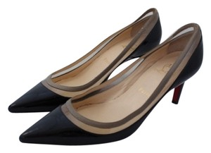 Christian Louboutin Patent Patent Leather Pointed Toe Clear Pvc Paulina Black Pumps