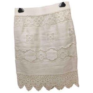 Dolce&Gabbana Dolce Lace Pencil Summer Spring Mini Skirt White