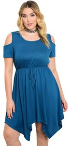 Love Cameron LA short dress Teal Cold Plus Size on Tradesy