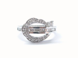 Other 18Kt Round & Baguette Multi Shape Diamond Ring WG .60CT