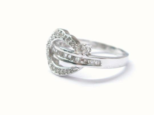 Other 18Kt Round & Baguette Multi Shape Diamond Ring WG .60CT Image 2