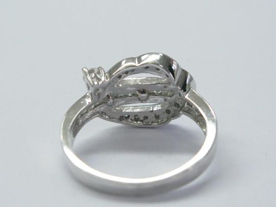 Other 18Kt Round & Baguette Multi Shape Diamond Ring WG .60CT Image 3