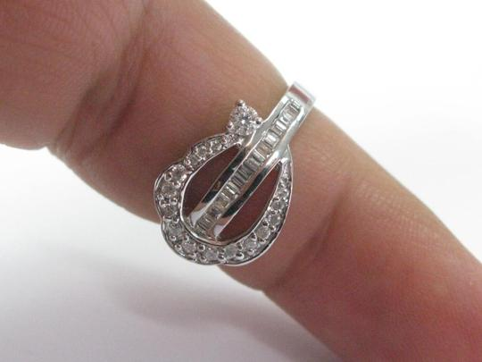 Other 18Kt Round & Baguette Multi Shape Diamond Ring WG .60CT Image 4