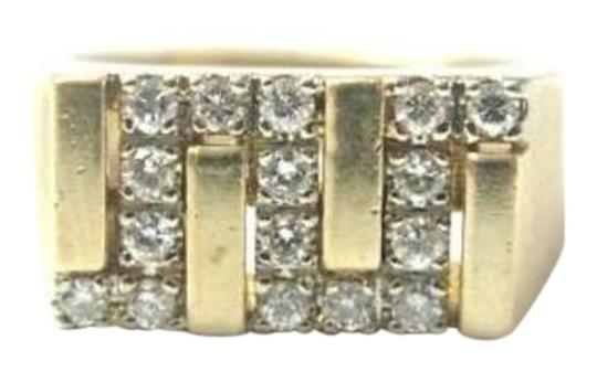 Other Fine Man's Zig Zag Diamond Jewelry Ring Yellow Gold 14KT Image 0
