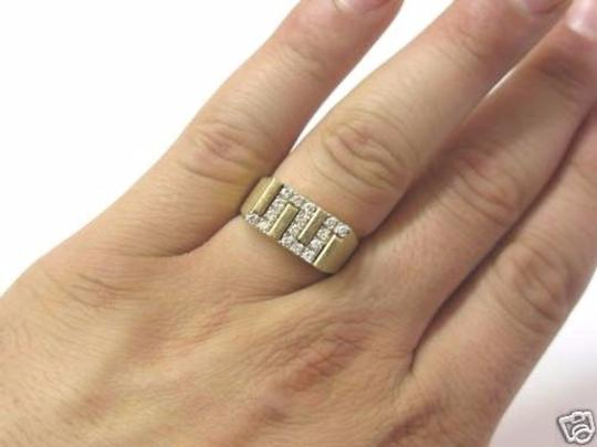 Other Fine Man's Zig Zag Diamond Jewelry Ring Yellow Gold 14KT Image 4
