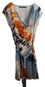 Andrew Marc Silk Painted Summer Draped Spring Dress