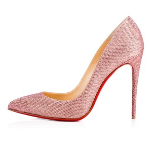 Christian Louboutin Louboutin Pigalle Pigalle Follies Glittered Louboutin Pink poudre Pumps