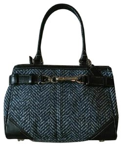 Coach Tweed Hamptons Satchel in Navy Blue