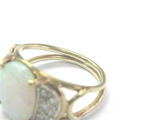 Other Fine Opal Diamond Yellow Gold Anniversary Jewelry Ring 1.40Ct Image 3
