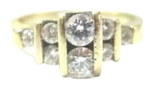 Other Fine Engagemet Diamond Solitaire with Accents Yellow Gold Jewelry Ring