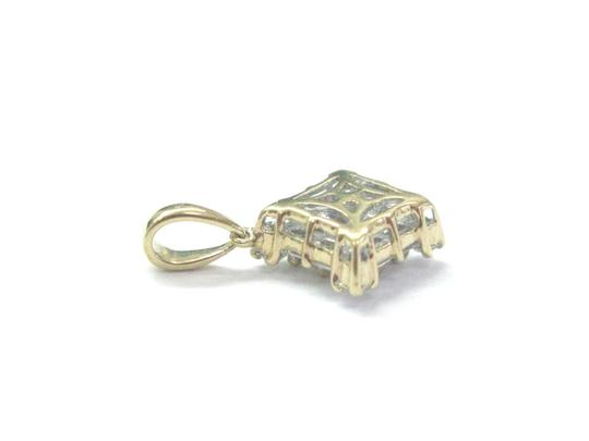 Other 18Kt Princess Round & Baguette Diamond Yellow Gold Pendant .45Ct Image 1