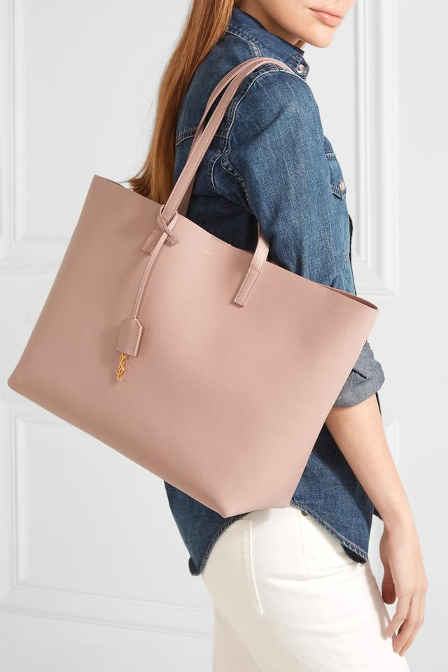 2191e50c6ab Saint Laurent Marked Down - Large Shopping Antic Pink Leather Tote - Tradesy