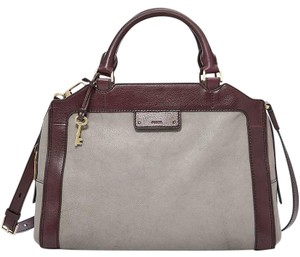 Fossil Satchel in Grey