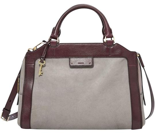 Preload https://img-static.tradesy.com/item/21145547/fossil-logan-grey-leather-satchel-0-1-540-540.jpg
