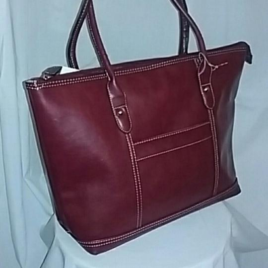 CLASSIC WORK TOTE Tote in BURGANDY Image 2