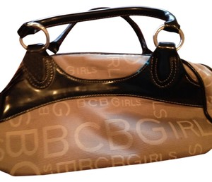 BCBGeneration Satchel in Tan and black