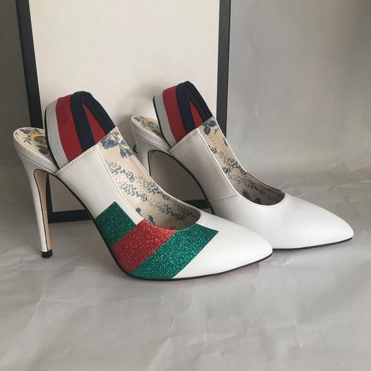 Preload https://item4.tradesy.com/images/gucci-white-leather-pumps-size-us-7-regular-m-b-21145603-0-2.jpg?width=440&height=440