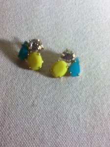 Banana Republic Blue and Yellow Gemstone Earrings