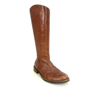 Fiorentini + Baker Leather Knee High Classic Versatile Cognac Brown Boots