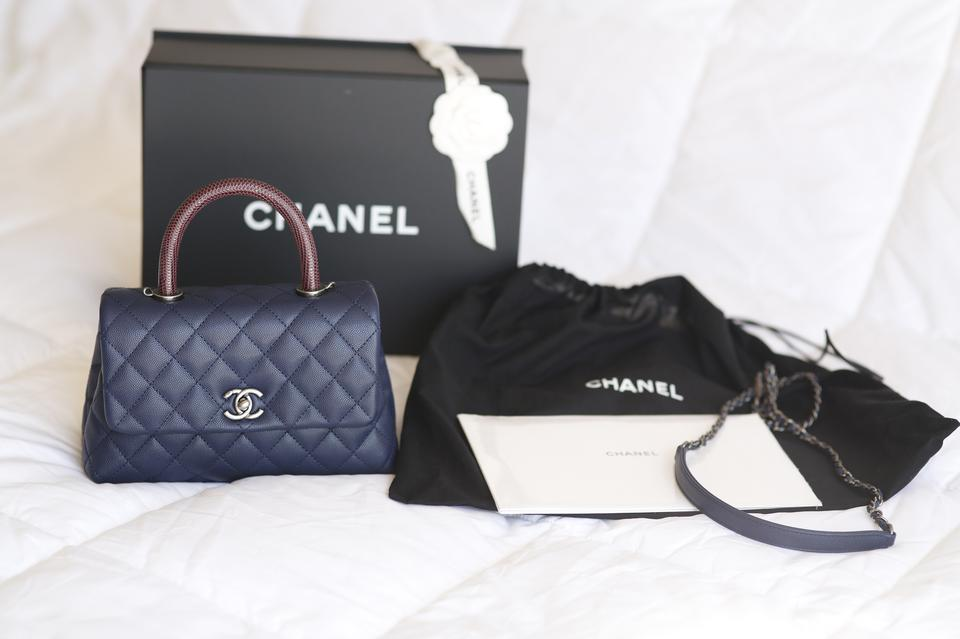 ce847d60ba99 Chanel Flap Caviar Quilted Classic Coco Handle Shoulder Bag Image 6. 1234567
