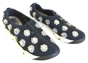 Dior Embelish Sneaker Couture High-fashion Black Flats