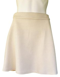 Banana Republic Circle Quilted A-line Skirt Ivory