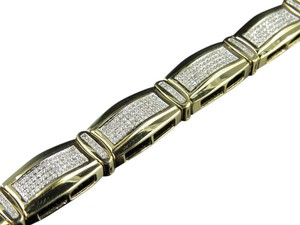 Other 10MM Bar Style Link 8.5 Inch Genuine Diamond Bracelet 2.12ct