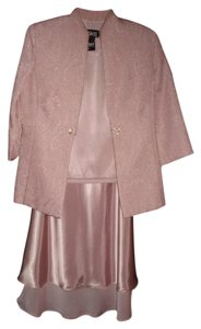 Dusty Pink 3 Piece Outfit In Dusty Pink - Top Skirt And Jacket Dress