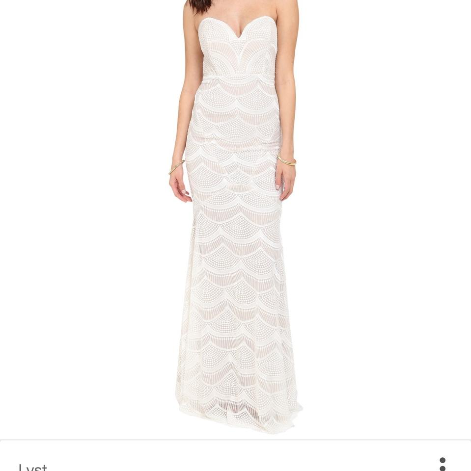 404717a514 Stone Cold Fox White   Nude Lace Market Gown Feminine Wedding Dress ...
