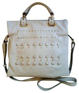 Vince Camuto Leather Crossbody Belfast Tote in White