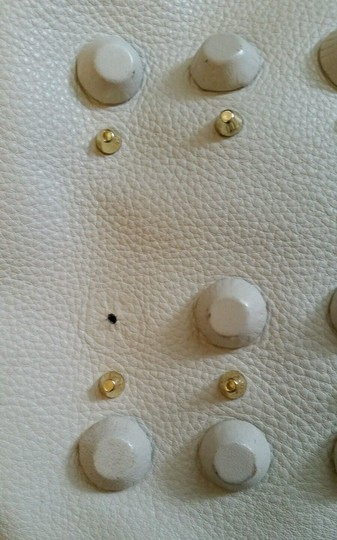 Vince Camuto Leather Crossbody Belfast Tote in White Image 3