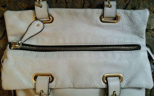 Vince Camuto Leather Crossbody Belfast Tote in White Image 5