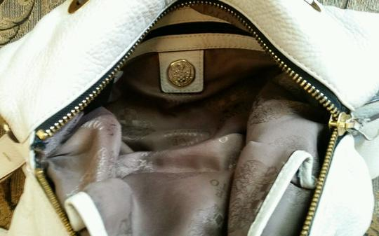 Vince Camuto Leather Crossbody Belfast Tote in White Image 7