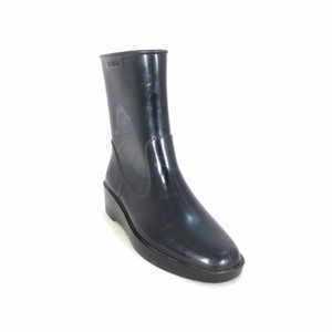 Fendi Rubber Wellington Ankle Black Boots