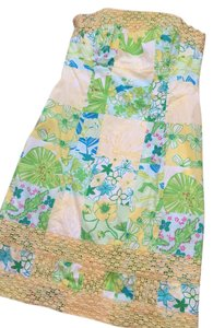 Lilly Pulitzer short dress Yellow and Green on Tradesy