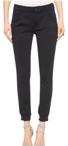 Mother Track Pants Cropped Thick Stretchy Capri/Cropped Denim-Coated
