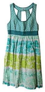 Ecote short dress Green Pockets Keyhole Empire Waist on Tradesy