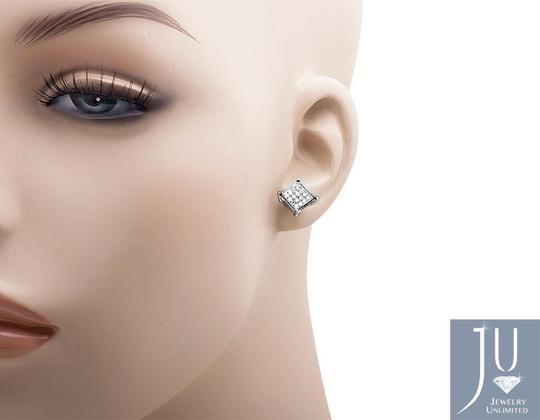 Other 6MM Sharp Square Kite Genuine Diamond Stud Earring 0.15Ct. Image 2