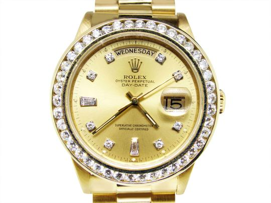 Rolex 36MM 18038 Presidential Day-Date Diamond 3.5 Ct Image 2