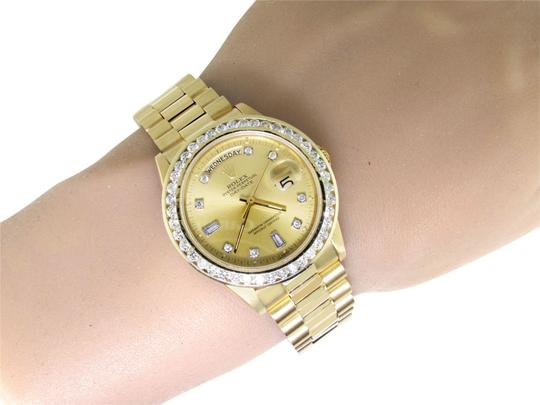 Rolex 36MM 18038 Presidential Day-Date Diamond 3.5 Ct Image 4