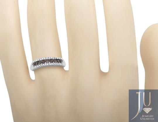 Other 3 Rows Brown and White Genuine Diamond Wedding Ring Band 0.20ct. Image 1