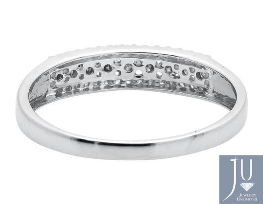 Other 3 Rows Brown and White Genuine Diamond Wedding Ring Band 0.20ct. Image 2