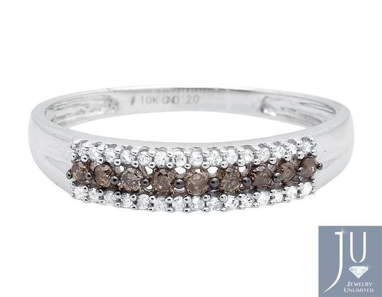 Other 3 Rows Brown and White Genuine Diamond Wedding Ring Band 0.20ct. Image 3