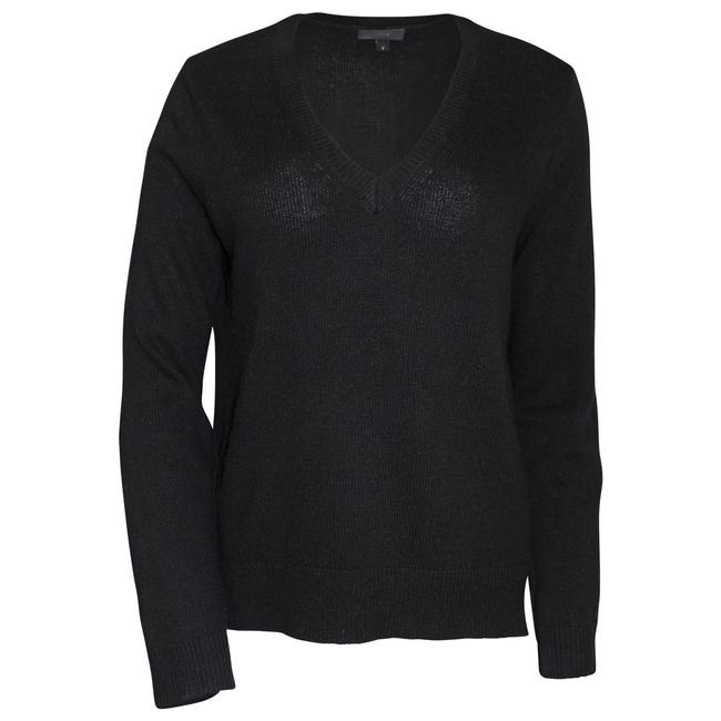 Preload https://img-static.tradesy.com/item/21146599/jcrew-black-pre-owned-v-neck-with-leather-panels-sweaterpullover-size-4-s-0-0-650-650.jpg